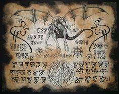 DRAGON RUNES larp Necronomicon Fragment by zarono on Etsy, $10.00
