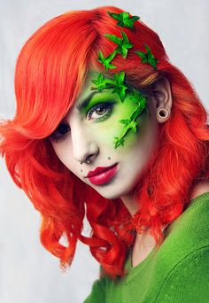 Poison Ivy! I love the neon coral and orange tones of the hair!- freaking awesome hair.