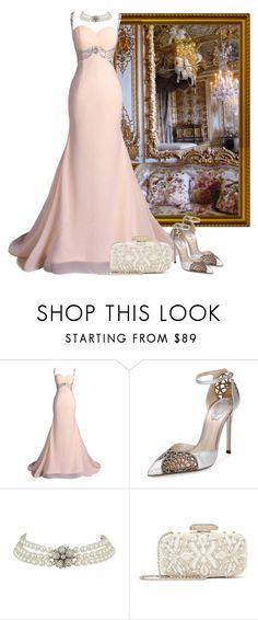Evening dress by fashionrushs on Polyvore featuring René Caovilla and Oscar de la Renta