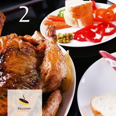 مرغ کامل رست شده با ترکیب ادویه های خاص
