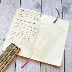 Bullet Journal Stencil Banners Flags and General by Moxiedori