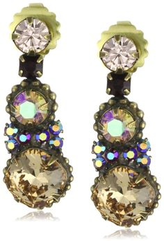 "Sorrelli ""Tapestry"" Crystal Graduated Gold-Tone Earrings $55.00"