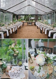 outdoor wedding reception at Lake Tahoe in the rain  http://www.weddingchicks.com/2013/10/16/rainy-day-wedding-2/