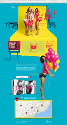 Hotsite Uh-la-la Recco on Behance