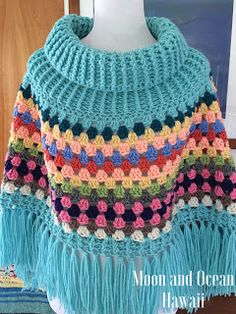 636 Best Crochet Ponchos And Capes Images In 2019 Scarves