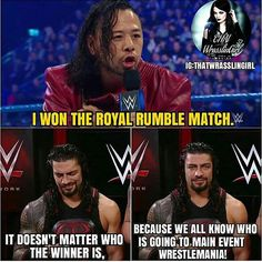 """I wouldn't want to be the idiot that thinks that just because someone else likes a wrestler they don't like, it means they know nothing about """"good wrestling"""". - #romanreigns #4thwrestlemaniamaineventinarow #ahyezzir #wwememe #wwe"""