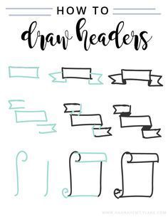 Draw headers bullet journal writing styles, bullet journal fonts hand lettering, bullet journal tips Bullet Journal Headers, Bullet Journal Banner, Bullet Journal Writing, Bullet Journal Ideas Pages, Bullet Journal Inspiration, Bullet Journals, How To Make Banners, Lettering Tutorial, Doodles