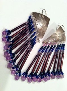 VF Sterling Silver Native American Wild West Exotic Bold Purple Blue S – Talkingfashion