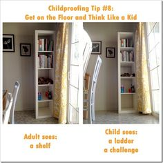 "10+ Tips for Foolproof Child-Proofing. Really good things to think about for making your home safe, and TONS of ""bonus tips."" Pin for reference!"
