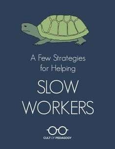 A Few Strategies To Help Slow-Working Students - We want students to work at their own pace, but when one student is significantly slower than his peers, it can cause problems for him and for his teachers. These strategies can help. Differentiated Instruction, Instructional Strategies, Teaching Strategies, Teaching Tips, Differentiation Strategies, Rubrics, Classroom Behavior, Classroom Management, Classroom Ideas