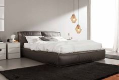 Letto vougue in pelle soft visone Leather Double Bed, Double Beds, Master Bedroom, Lounge, Couch, Furniture, Home Decor, Design, Costa Rica