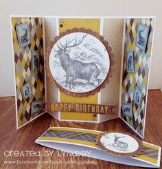 Swing out Gatefold Card - First Edition Wild at Heart by design team member Lyndsey