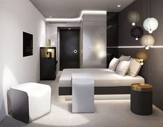 Moon Hotel, Hotel Interiors, 3d Visualization, Vienna, Behance, Lifestyle, Gallery, Check, Room