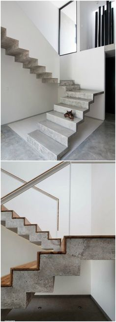 Contemporary interior design - More Interior Trends To Not Miss. Contemporary Interior Design, Luxury Interior Design, Interior Architecture, Stairs To Heaven, Escalier Design, Stair Handrail, Railings, Concrete Stairs, Modern Stairs