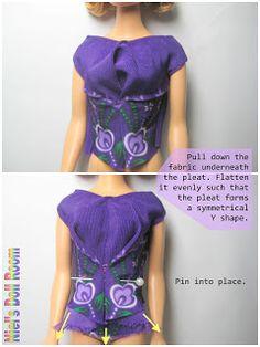 Niel's Doll Room: Barbie Dress Patten # 4