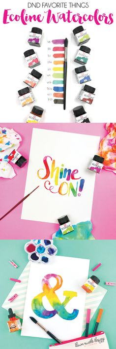 DND Favorite Things: Ecoline Liquid Watercolors. These watercolors are all the rage on social media! Do they live up to they hype? Here are my two cents!