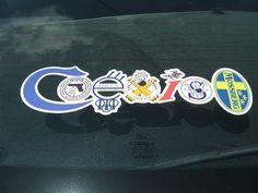 """COEXIST"" sticker - Colt-Glock-Beretta-SA-Winchester-SW-Mossberg logos"