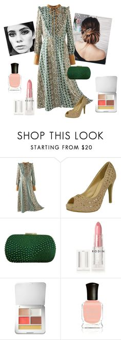 """""""70's Glam"""" by chicastic on Polyvore featuring Rodin, rms beauty and Deborah Lippmann"""