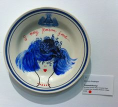 Plate up cycled china collage by Adrienne Geoghegan Porcelain Ceramics, Upcycle, Mixed Media, Collage, China, Plates, Tableware, Painting, Licence Plates