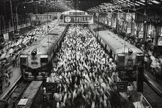 Churchgate Station, Western Railroad Line, Bombay, India by Sebastião Salgado on artnet Auctions
