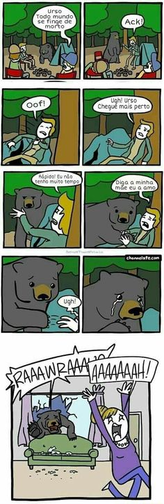 Bear Everyone Play Dead - Funny Memes. The Funniest Memes worldwide for Birthdays, School, Cats, and Dank Memes - Meme 9gag Funny, Funny Shit, Funny Cute, Funny Posts, The Funny, Funny Memes, Hilarious, Funny Stuff, Daily Funny