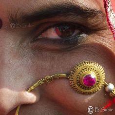 Subir Basak  Eyes..... A square format shot.. @ Pushkar 2012...