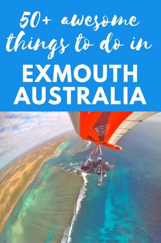 50+ awesome things to do in Exmouth Western Australia - #7 learn to fly a microlight