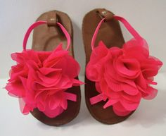 Hot pink Summer sandals for baby girls by Kellseys