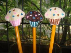 Cupcake Pencil Toppers