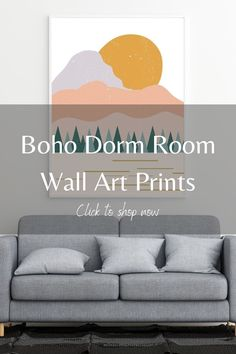 Add the boho aesthetic to your college dorm room with ease with printable wall decor! LB Ink Design's wall art printables are an easy DIY and are an affordable decoration option. We have a wide selection of boho, minimalist and abstract wall art prints, so you're bound to find something you love on our Etsy store. Click this pin to shop our boho wall decorations, perfect for you dorm room! #wallartdecor #homedecor #dormdecor #abstractwallart #minimalistwallart #abovedeskart #abovebedart