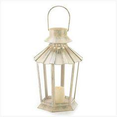 Weathered Ivory Garden Lanterns for Wedding Decorations - Affordable Elegance Bridal -