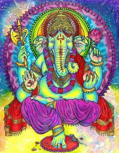 ☮ American Hippie Psychedelic Art ~ Elephant .. Ganesha