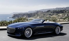 unveiled at pebble beach, california, mercedes-benz showcases its vision mercedes-maybach 6 concept, which is a sensational luxury-class cabriolet that reinterprets classic, emotional design principles. Mercedes Benz Maybach, Maybach Coupe, Mercedes Classic Cars, Bmw Classic Cars, New Mercedes, Mercedes Concept, Mercedes Electric, Mercedes Models, Electric Cars