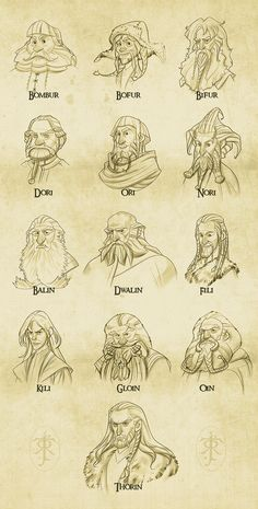 Dwarves - The Hobbit by levi-gomes.deviantart.com on @deviantART
