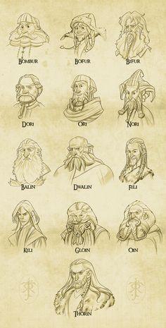 Dwarves - The Hobbit by levi-gomes.deviantart.com on @deviantART