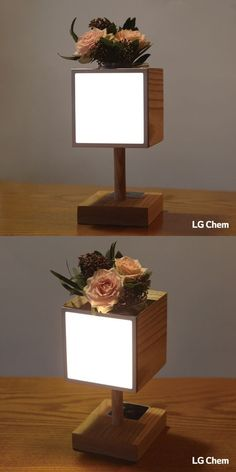Looking for a new DIY project to make with your kids. Why not a wodden Oled lamp with the Oled DIY Kit by LG Display.