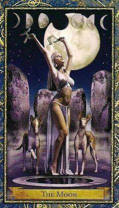 tarot card goddess of the moon