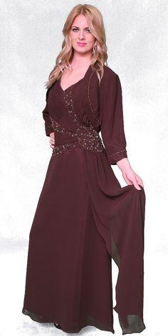 Et120 Nightscenela Por Wedding Colors Georgette Fabric Bride Gowns Mother