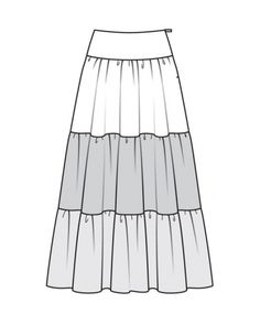 How to sew a tulle from a tulle Clothing Templates, Clothing Sketches, Fashion Flats, Fashion Outfits, Hippie Style, Fashion Design Sketches, Dress Sewing Patterns, Models, Easy Dress