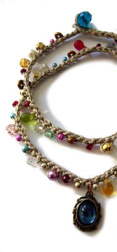 crochet bracelet boho