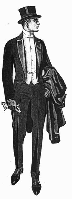1919 Fashion, I would love to find a pattern for a tux with tails like this(for me to wear of course ;) )