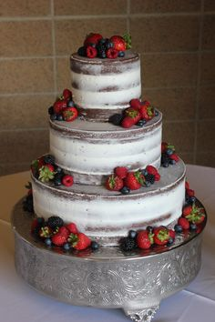 go semi-naked; lovely with the fresh berries - by Cake Occasion