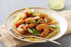 Asian Sesame-Shrimp Stir-Fry. We loved this recipe. Used yellow onions instead of green onions (thrown in with other veg), and scallop and shrimp combo pack instead of just shrimp. Very delicious.