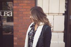 Fur lined Vegan Leather Jacket with Ponte Sleeves.