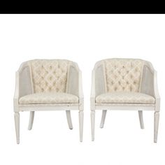 White wash cane chairs