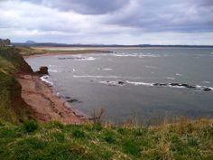 Beach in Dunbar in Eastl Lothian Scotland