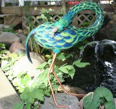 Carved one of a kind gourd bird sculpted by gourdsrus on Etsy