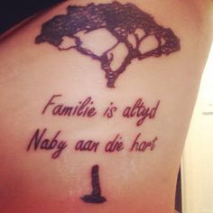 My tattoo ' family is always close to the heart' I Tattoo, Tattoo Quotes, South Africa, Heart, Hearts, Inspiration Tattoos, Quote Tattoos