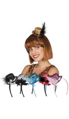 b79321d4af5aa Mini-chapeau à paillettes noir, rouge, rose ou argent. Deguisement  Charleston ...