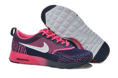 best loved 6ee6a 57579 Buy Womens Nike Air Max Thea Flyknit Running Shoes Navy Blue Pink TopDeals  844723 from Reliable Womens Nike Air Max Thea Flyknit Running Shoes Navy  Blue ...